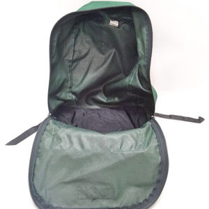 Eastpak Bags - Eastpak Vintage Green Leather Bottom Backpack